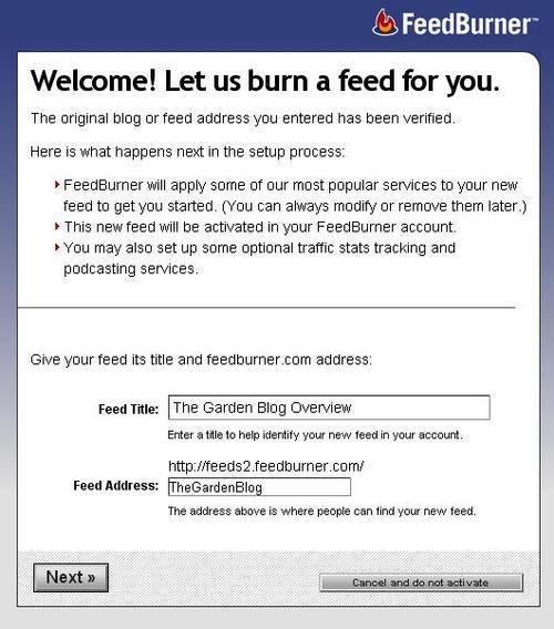 Joomla! Blogging and RSS Feeds : Using Google's FeedBurner