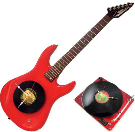 Vyconic Upcycled Electric Guitar Clock