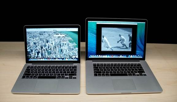 The MacBook Pro is around 220g lighter than its predecessor