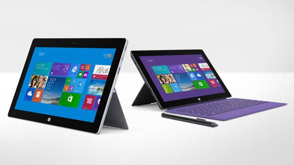 Microsoft Surface Pro 2 and Surface 2