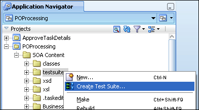 Creating the unit test