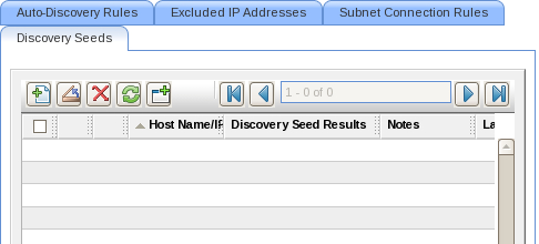 Example 1: Adding nodes using seed configuration tab window