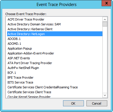 Select a provider to trace.