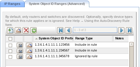 Example 2: Discover by IP address range and system Object ID