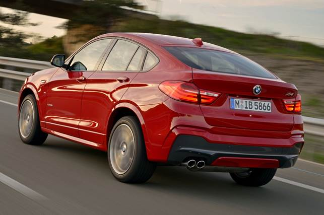 Rear sight-lines on the 2015 BMW X4