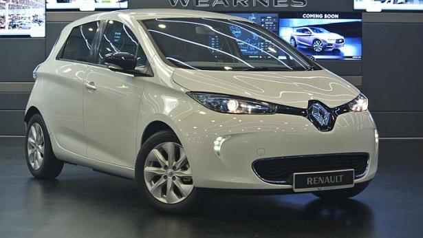 The Renault Zoe looks compact but it has a sizeable boot space and can carry three passengers in the back row. -- ST PHOTO: TOH YONG CHUAN