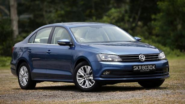 The new Volkwagen Jetta is a wee bit more efficient than its predecessor. -- ST PHOTO: KEVIN LIM