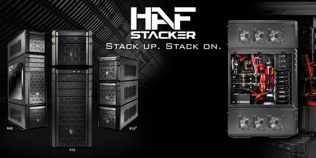 HAF Stacker - the first expandable system that allows externally modular upgrades for enthusiasts.