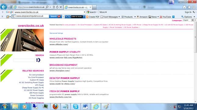 Description: Website www.overclocks.co.uk
