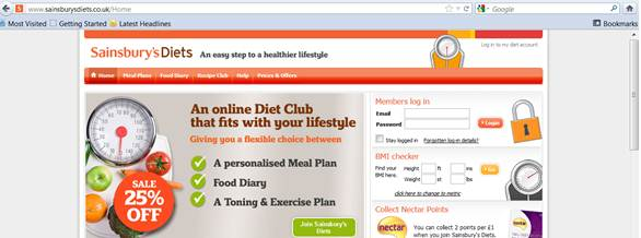 Description: www.sainsburysdiets.co.uk/Home