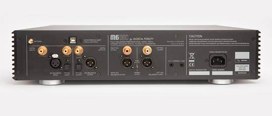 The coaxial, one optical (S/ PDIF) and XLR (AES/ EBU) digital are joined by a USB 1.0/ 2.0 port. There are matching digital outputs plus both single-ended (RCA) and balanced (XLR) audio outs. M-series IR remote completes the package
