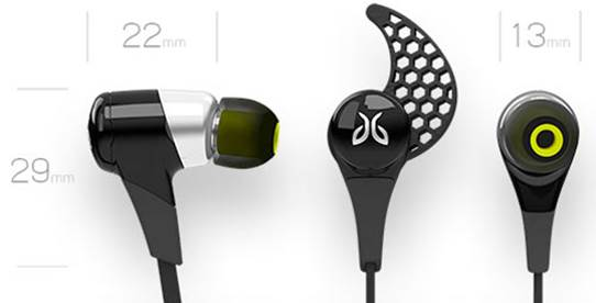 BlueBuds X earbuds are impressively small and lightweight in comparison with other Bluetooth headphones.