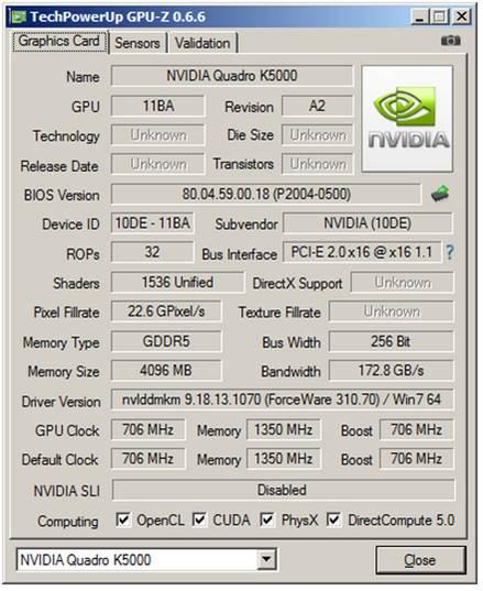 Nvidia Quadro K5000 Professional Graphics Card (Part 2