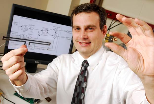 He has developed a testbed to rapidly test new RFID tag prototypes