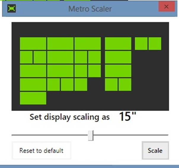Metro Scaler uses a simple slider to change the number of rows that spear on the Start screen