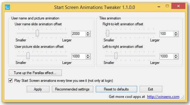 Make Start screen animations work the way you want them to with Start Screen Animations Tweaker