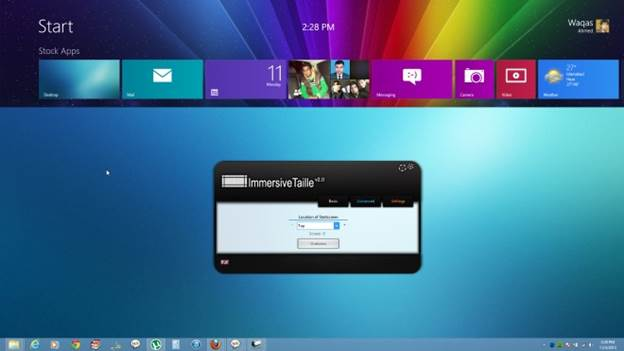 ImmersiveTailler give you the change to better integrate the Start screen into the Windows 8 desktop
