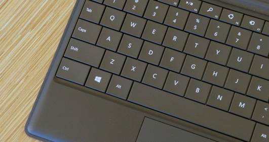 We usually think of people typing without looking down at the Touch Cover keyboard will master typing the keyboard faster than a tactile tablet on other operating systems.