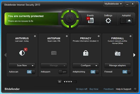 Bitderfender Internet Security 2013