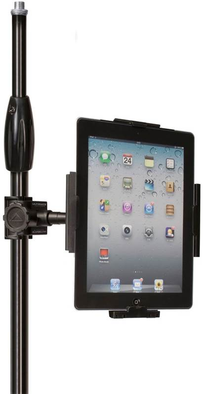 Other options for mounting iOS devices to a mie stand include the Ultimate Support HyperPad, which offers five different mounting options and fits iPads 2, 3 and 4