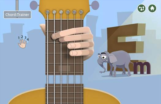Young beginners will enjoy Wildchords for iPad, an interactive game for learning how to play guitar