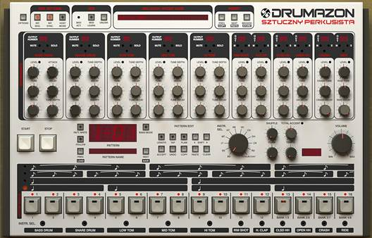 The classic TR-808 and TR-909 will provide all the snare and clap sounds we need here