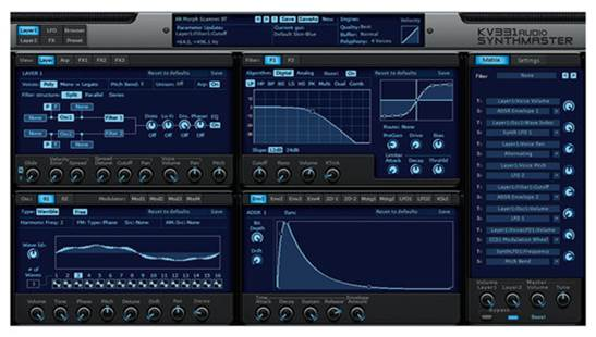The flexibility of the synth enables you to run these filters in series (one after another), parallel (both at the same time) and split mode