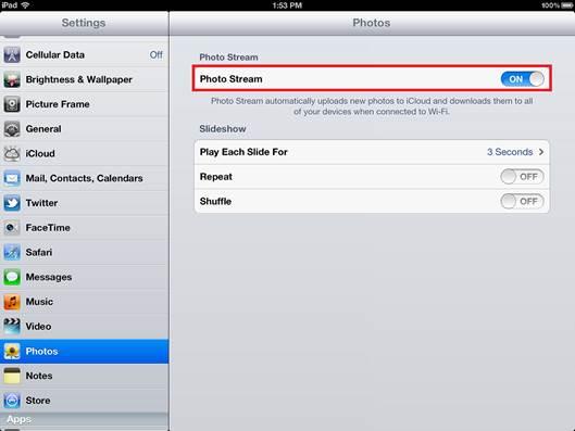 Photo Stream uploads the JPEG version by default