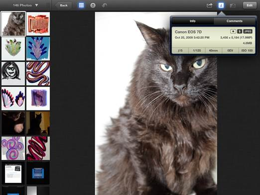 Starting with iPhoto for iOS, you can share your image files with a variety of social networks just by tapping the Share button