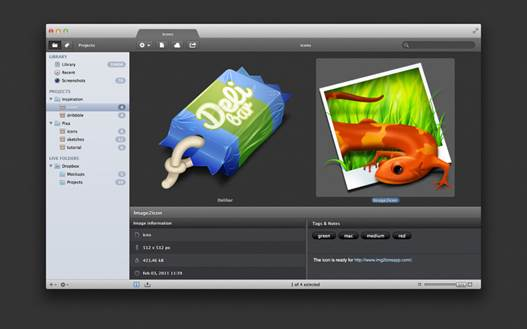 Pixa uses tabs to open multiple projects simultaneously