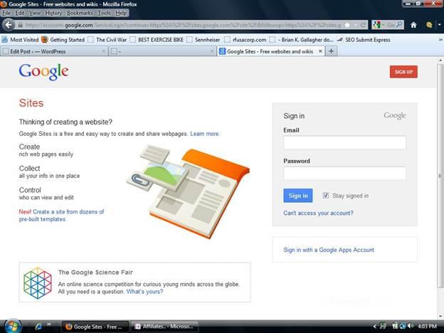 Free Website Builders Group Test: Google Sites - Tutorials,Articles