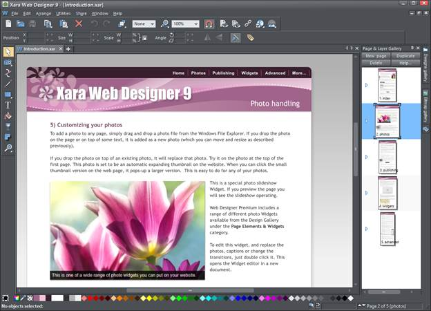 Xara Web Designer 9 Premium Offer Professional Flair At A Realistic Price Tutorials Articles Algorithms Tips Examples About Website