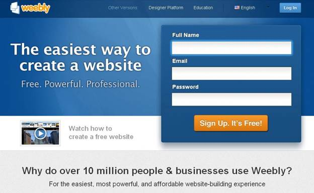 Weebly could very well be the fastest growing website builder available at the moment