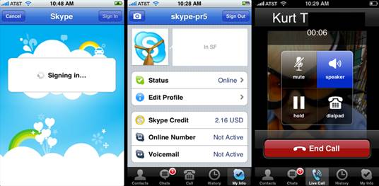 Reduce your monthly bill by using the almost ubiquitous Skype for your calls