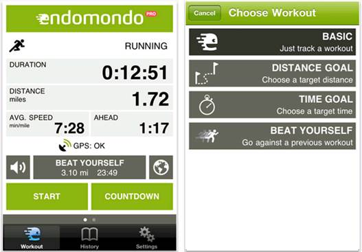For fitness freaks, Endomondo is the perfect app, keeping track of your efforts