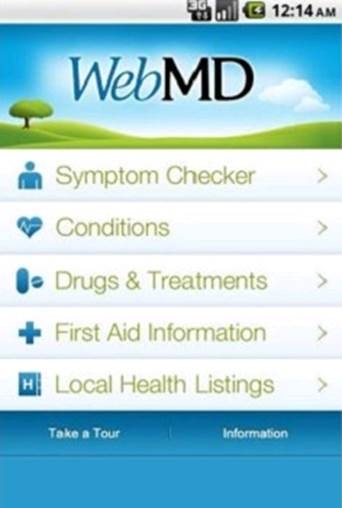 Medical diagnosis without a doctor - that's what the WebMD app offers.