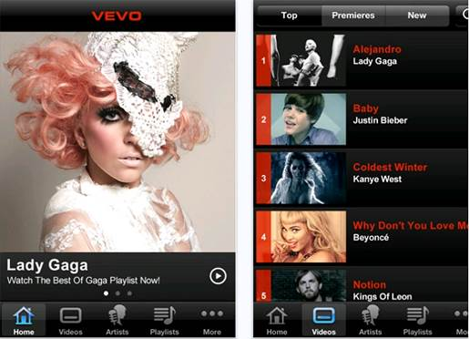View the latest pop videos, however awful they are, on your phone with Vevo
