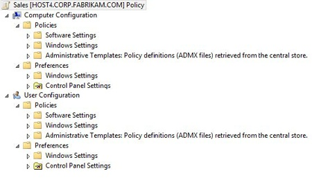 A Group Policy Object has both managed and unmanaged settings (policies and preferences).