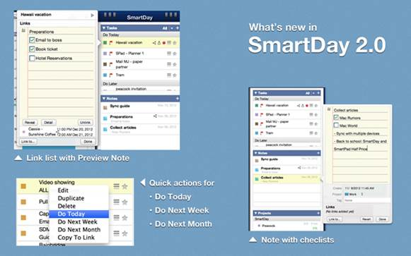 SmartDay puts your calendars and to-dos side by side.