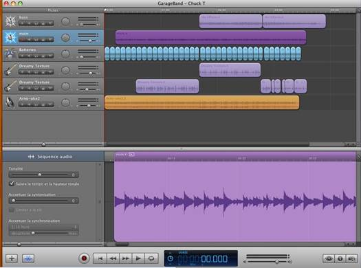 You can use GarageBand to fine-tune or completely edit the audio tracks in your movie projects.