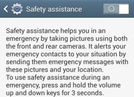 The app we're mentioning is Safety Assistance, 1 tool you can launch if you have an emergency case and need to transmit your location (of course, without the use of GPS)