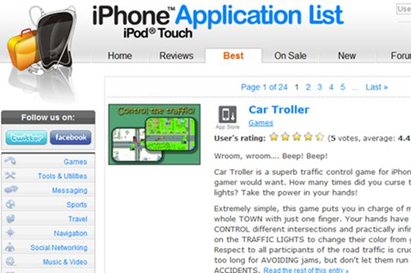 iPhone Application List