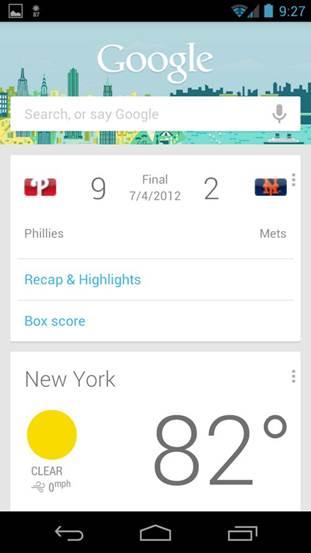 Explore the Google Now service