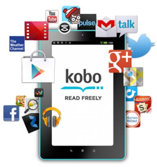 The Kobo app is a free download from the Google Play store