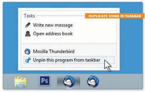 Duplicated icons in taskbar