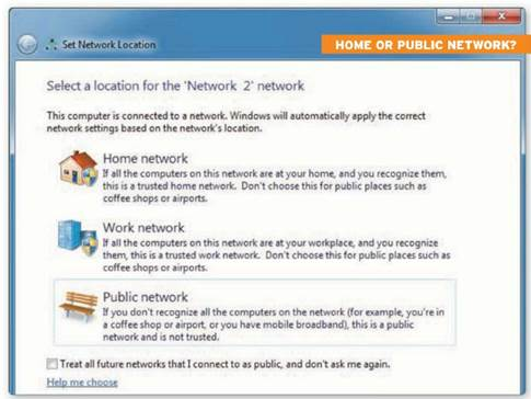 Home network or Public network